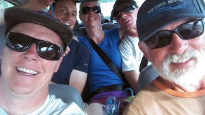 Last ride home for our sport class team. Left to Right: Matt, Felix, Me, Patrick, and Don.