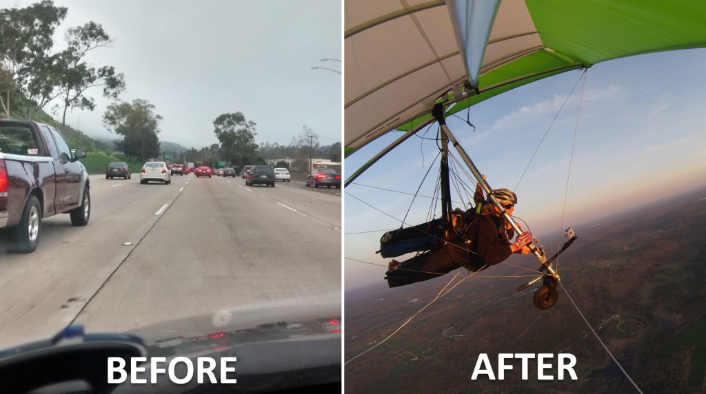 Traffic Before Hang Gliding Instructor After